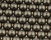 8mm SWAROVSKI® ELEMENTS Dark Green Crystal Pearl Beads - 20 pearls for jewellery making, beadwork and craft